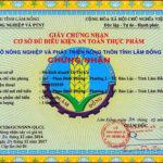 Xin cấp giấy chứng nhận cơ sở đủ điều kiện an toàn vệ sinh thực phẩm